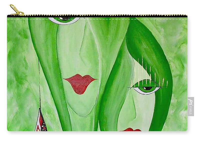 Graphics Carry-all Pouch featuring the painting Abs 0451 by Marek Lutek