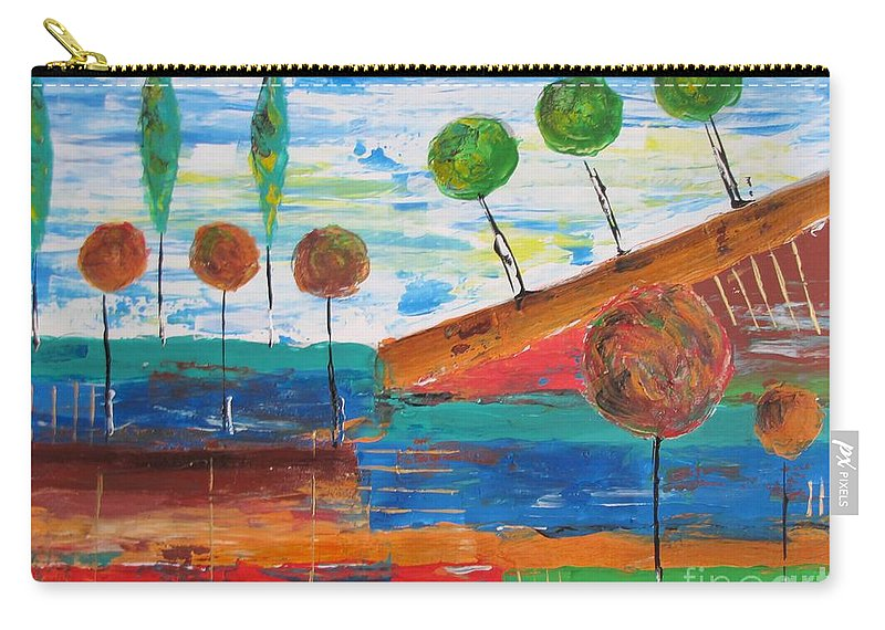 Graphics Carry-all Pouch featuring the painting Abs 0455 by Marek Lutek