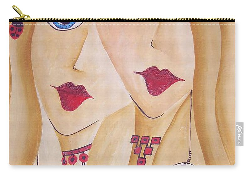 Graphics Carry-all Pouch featuring the painting Abs 04559 by Marek Lutek