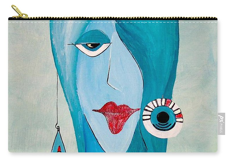 Graphics Carry-all Pouch featuring the painting Abs 0457 by Marek Lutek
