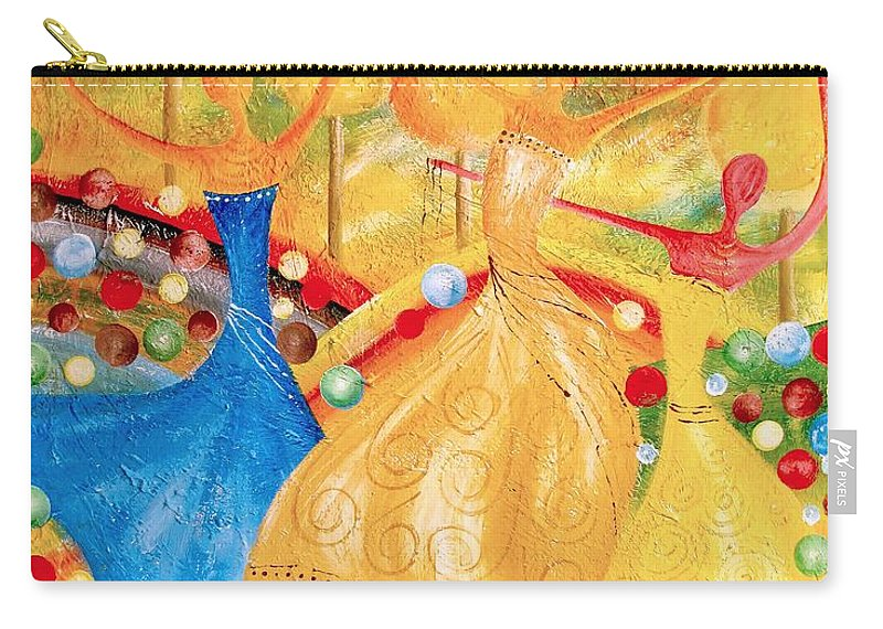 Graphics Carry-all Pouch featuring the painting Abs 0459 by Marek Lutek