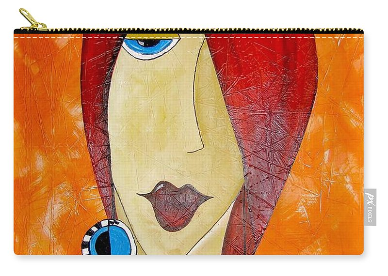 Graphics Carry-all Pouch featuring the painting Abs 0461 by Marek Lutek