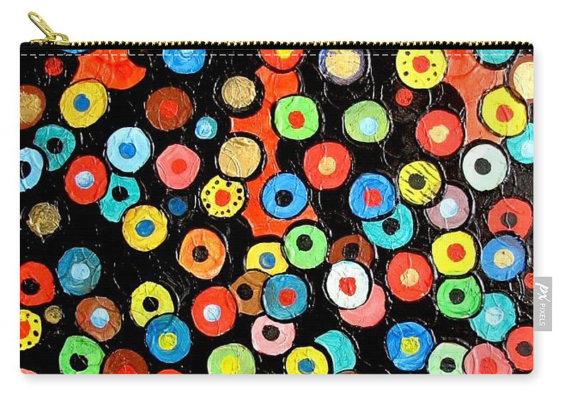Graphics Carry-all Pouch featuring the painting Abs 0462 by Marek Lutek