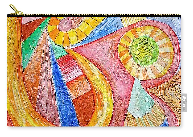 Graphics Carry-all Pouch featuring the painting Abs 0466 by Marek Lutek
