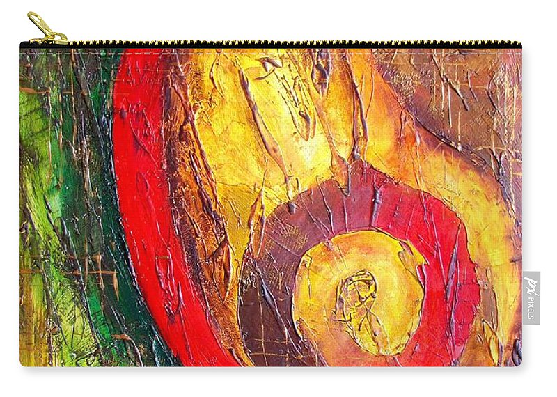 Graphics Carry-all Pouch featuring the painting Abs 0467 by Marek Lutek