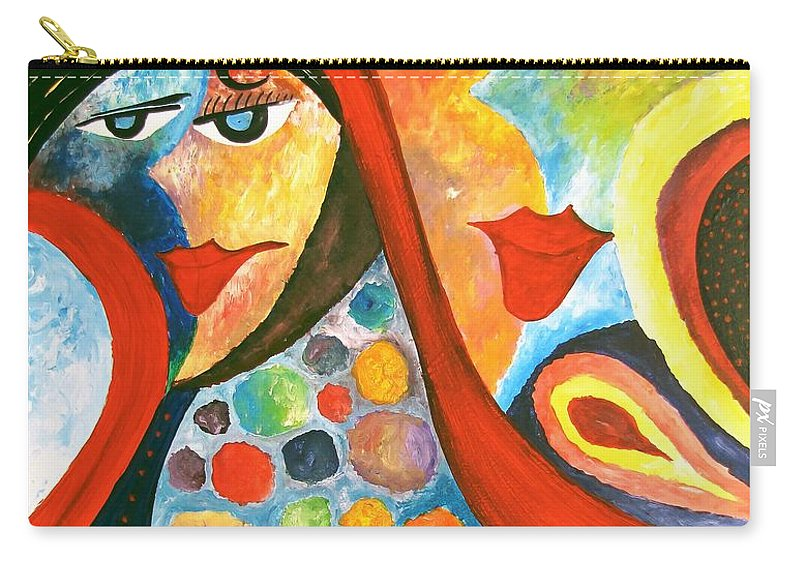 Graphics Carry-all Pouch featuring the painting Abs 0470 by Marek Lutek