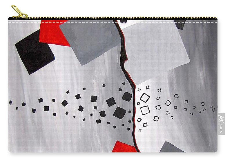 Graphics Carry-all Pouch featuring the painting Abs 0471 by Marek Lutek