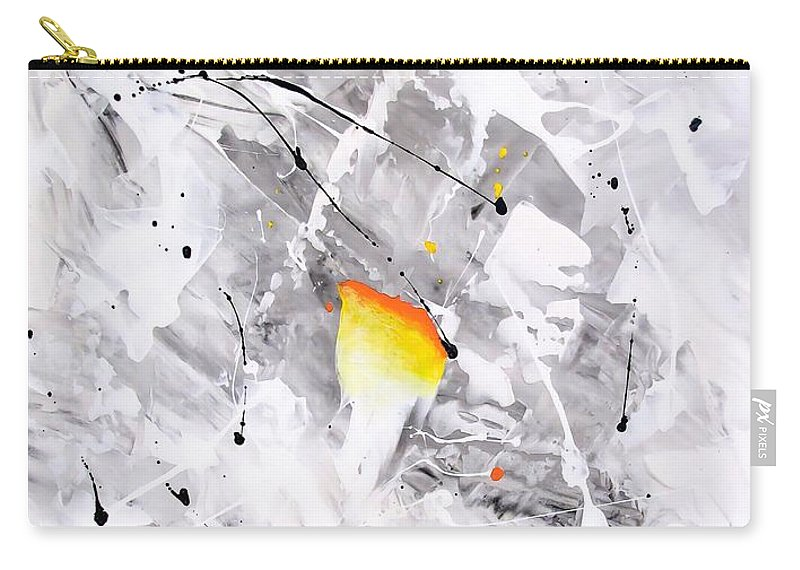 Graphics Carry-all Pouch featuring the painting Abstraction 477-2013 by Marek Lutek