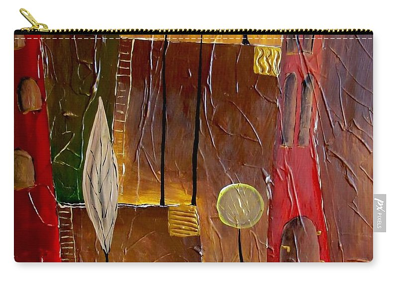 Graphics Carry-all Pouch featuring the painting Abs 0478 by Marek Lutek