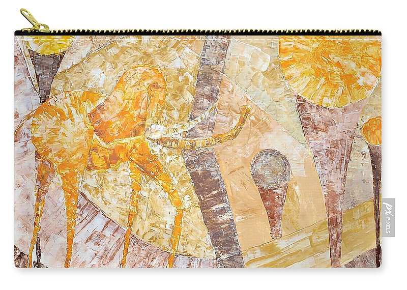Graphics Carry-all Pouch featuring the painting Abs 0482 by Marek Lutek