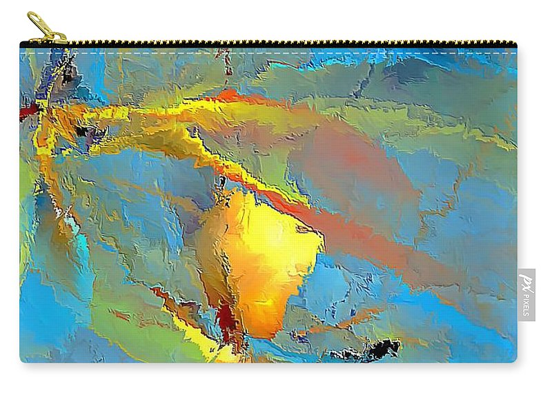 Graphics Carry-all Pouch featuring the digital art Abs 586 - Marucii by Marek Lutek
