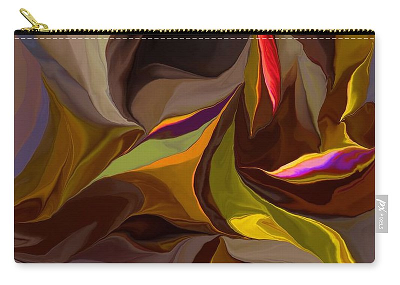 Fine Art Carry-all Pouch featuring the digital art Abstract 022212 by David Lane