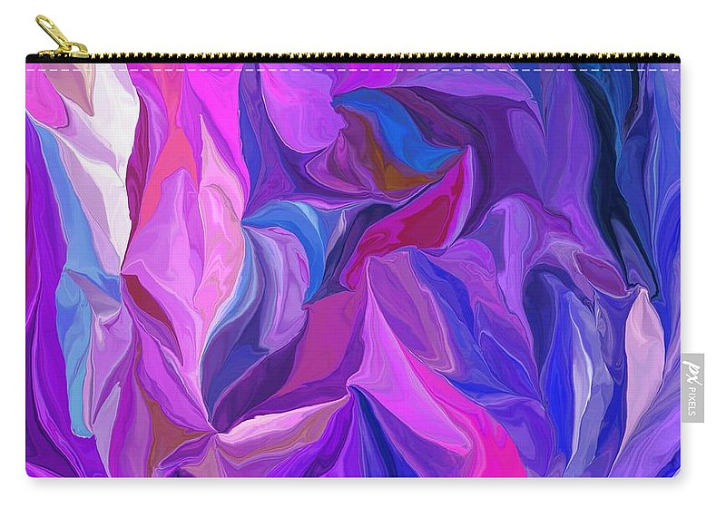 Fine Art Carry-all Pouch featuring the digital art Abstract 022512 A by David Lane
