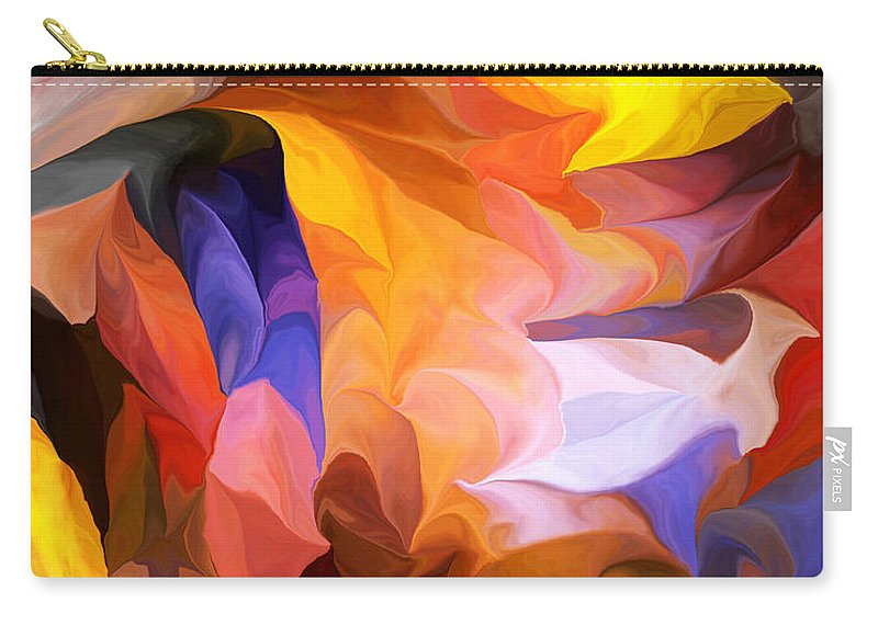 Fine Art Carry-all Pouch featuring the digital art Abstract 050312 by David Lane