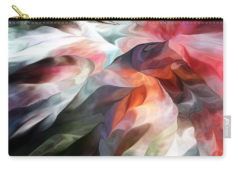Fine Art Carry-all Pouch featuring the digital art Abstract 062612 by David Lane