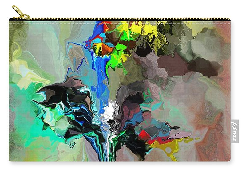 Fine Art Carry-all Pouch featuring the digital art Abstract 082412-1 by David Lane