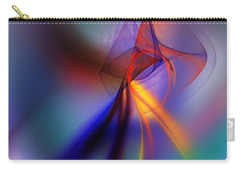 Fine Art Carry-all Pouch featuring the digital art Abstract 101211 by David Lane