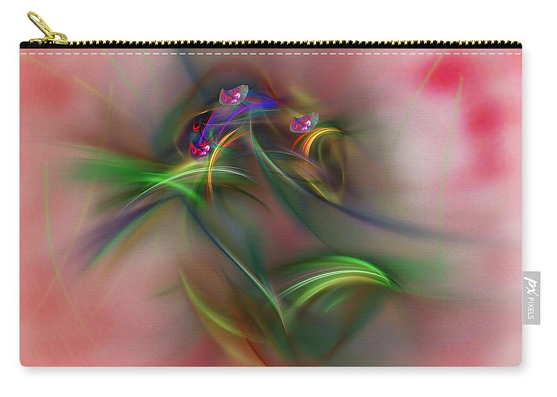 Fine Art Carry-all Pouch featuring the digital art Abstract 101211b by David Lane