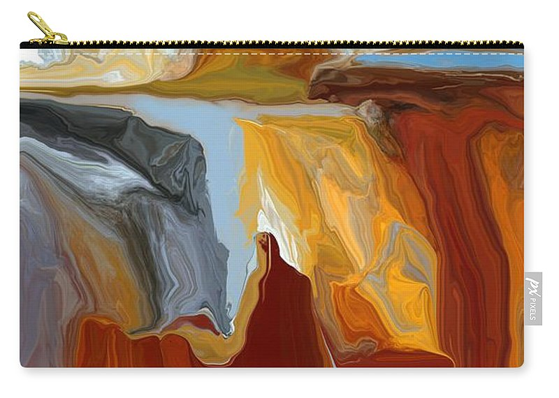 Fine Art Carry-all Pouch featuring the digital art Abstract 101311b by David Lane