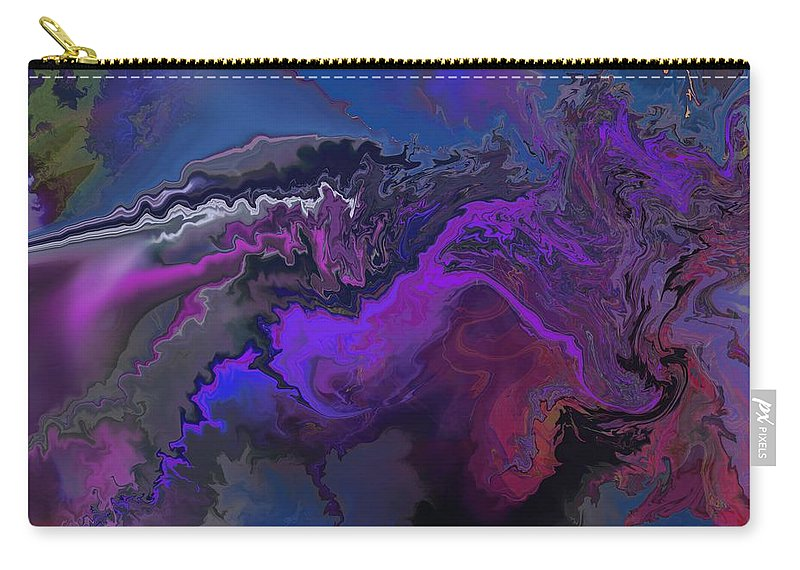 Fine Art Carry-all Pouch featuring the digital art Abstract 112711a by David Lane