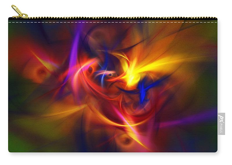 Fine Art Carry-all Pouch featuring the digital art Abstract 112811b by David Lane