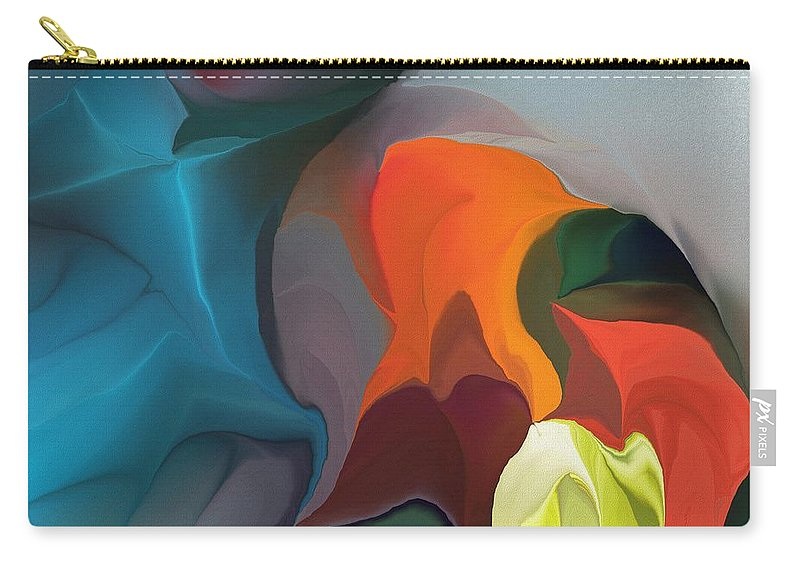 Fine Art Carry-all Pouch featuring the digital art Abstract 122211 by David Lane