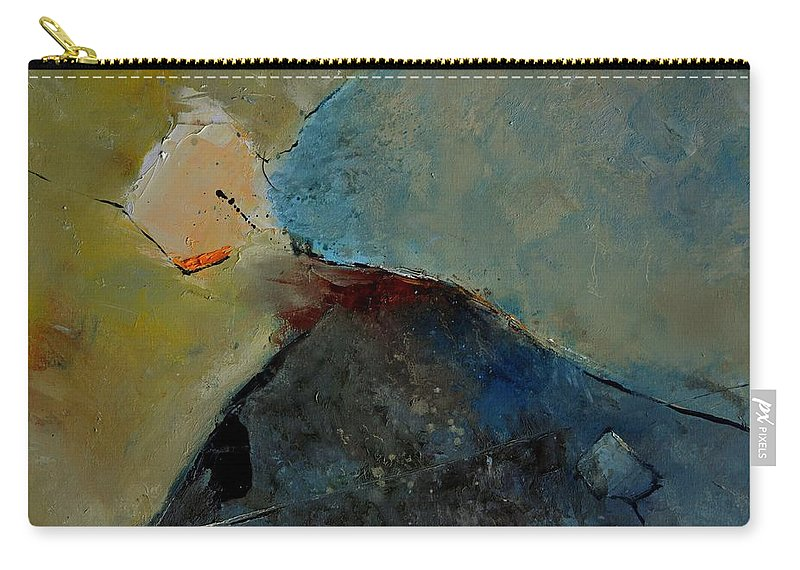 Abstract Carry-all Pouch featuring the painting Abstract 170006 by Pol Ledent