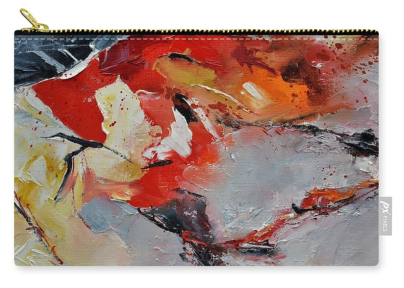 Abstract Carry-all Pouch featuring the painting Abstract 1852321 by Pol Ledent