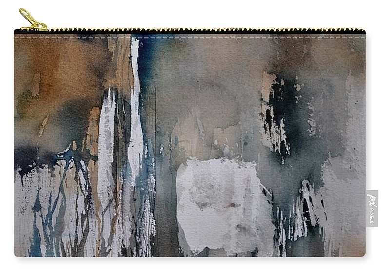 Abstract Carry-all Pouch featuring the painting Abstract 213030 by Pol Ledent