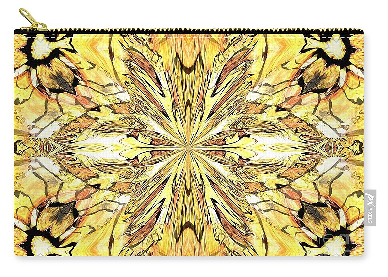 Abstract Carry-all Pouch featuring the digital art Abstract 46 by Maria Urso