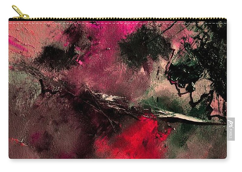 Abstract Carry-all Pouch featuring the painting Abstract 69210102 by Pol Ledent