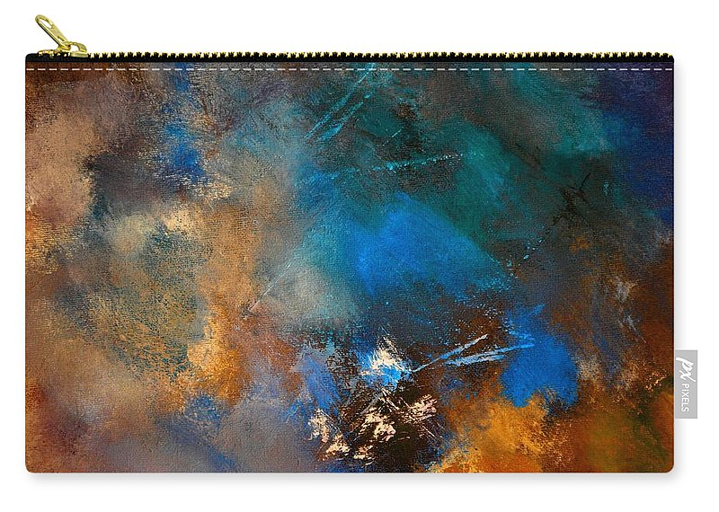 Abstract Carry-all Pouch featuring the painting Abstract 69210151 by Pol Ledent