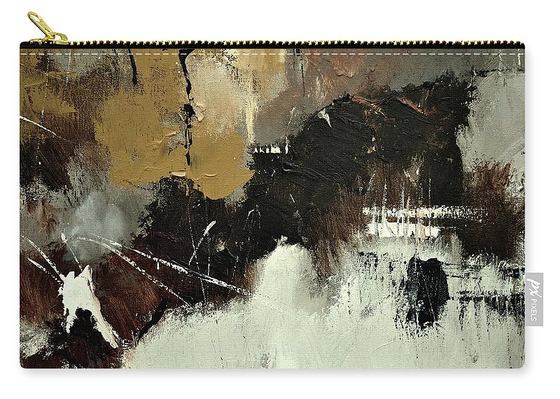 Abstract Carry-all Pouch featuring the painting Abstract 698542 by Pol Ledent