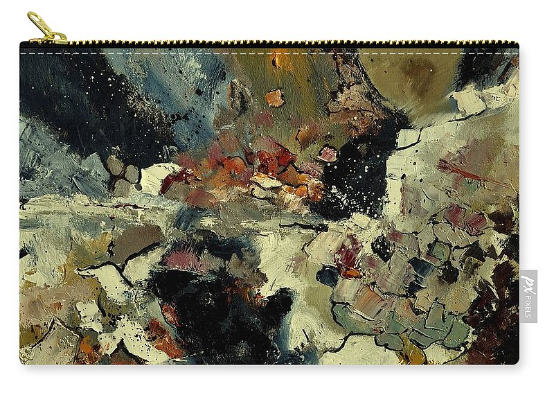Abstract Carry-all Pouch featuring the painting Abstract 7721901 by Pol Ledent