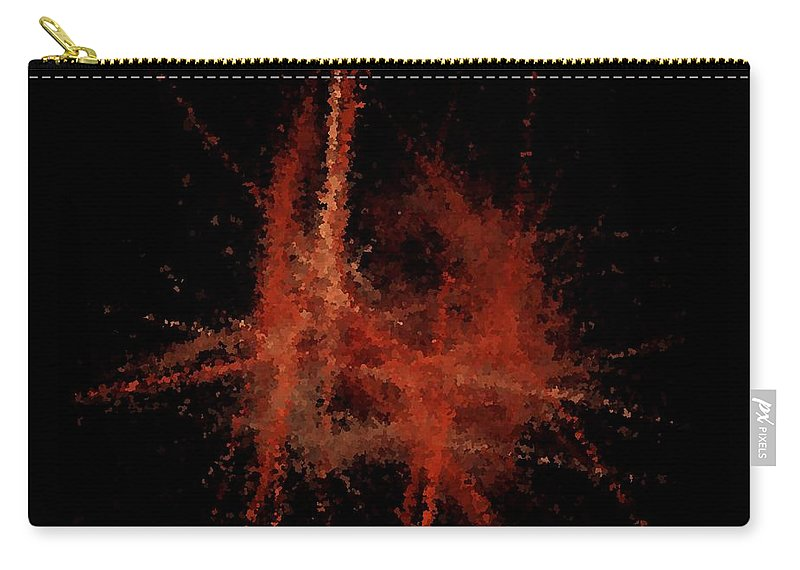 Paris Carry-all Pouch featuring the digital art Abstract A Paris Evening by David Dehner