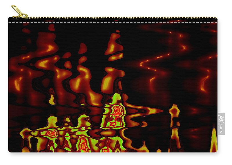 Carry-all Pouch featuring the digital art Abstract Fractals 2 by Steve K