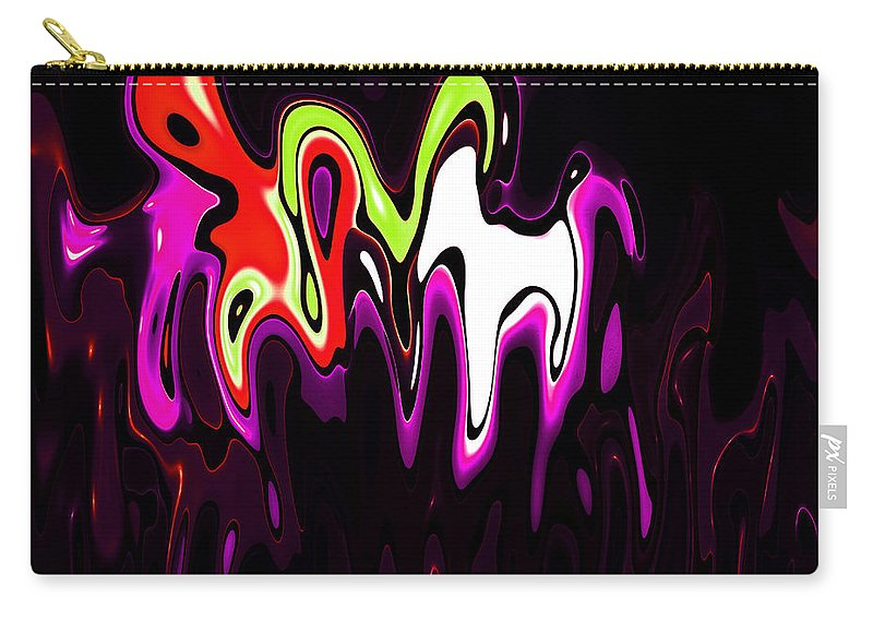 Carry-all Pouch featuring the digital art Abstract Fractals Melting 3 by Steve K