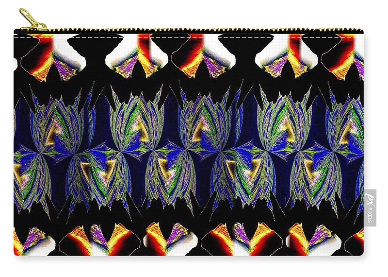 Abstract Fusion Carry-all Pouch featuring the digital art Abstract Fusion 156 by Will Borden