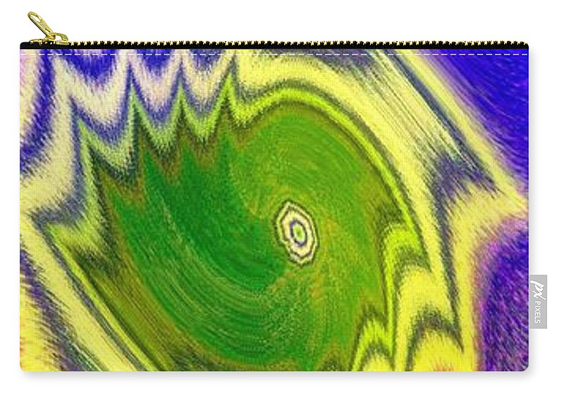 Abstract Fusion Carry-all Pouch featuring the digital art Abstract Fusion 157 by Will Borden