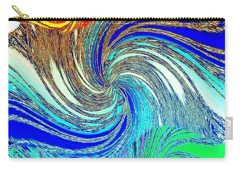 Abstract Fusion Carry-all Pouch featuring the digital art Abstract Fusion 159 by Will Borden