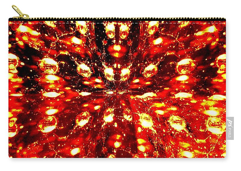Abstract Fusion Carry-all Pouch featuring the digital art Abstract Fusion 76 by Will Borden