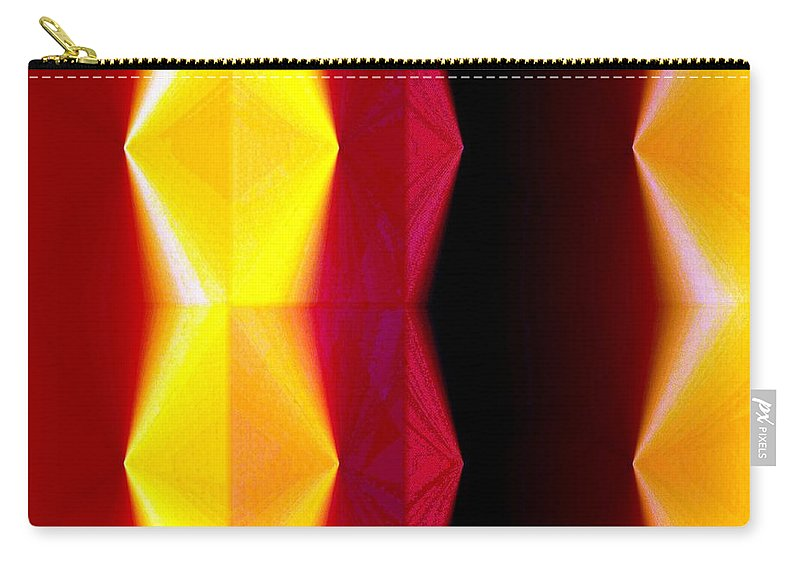 Abstract Fusion Carry-all Pouch featuring the digital art Abstract Fusion 82 by Will Borden