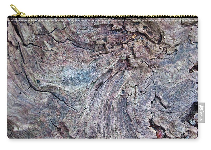 Wood Carry-all Pouch featuring the photograph Abstract In Blue 1 by Douglas Barnett