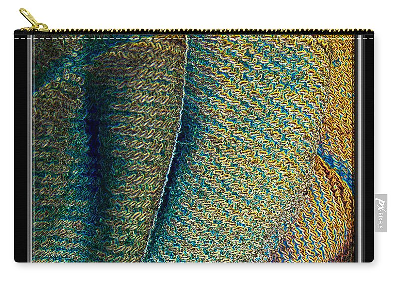 Abstract Carry-all Pouch featuring the photograph Abstract Jeans by Debbie Portwood