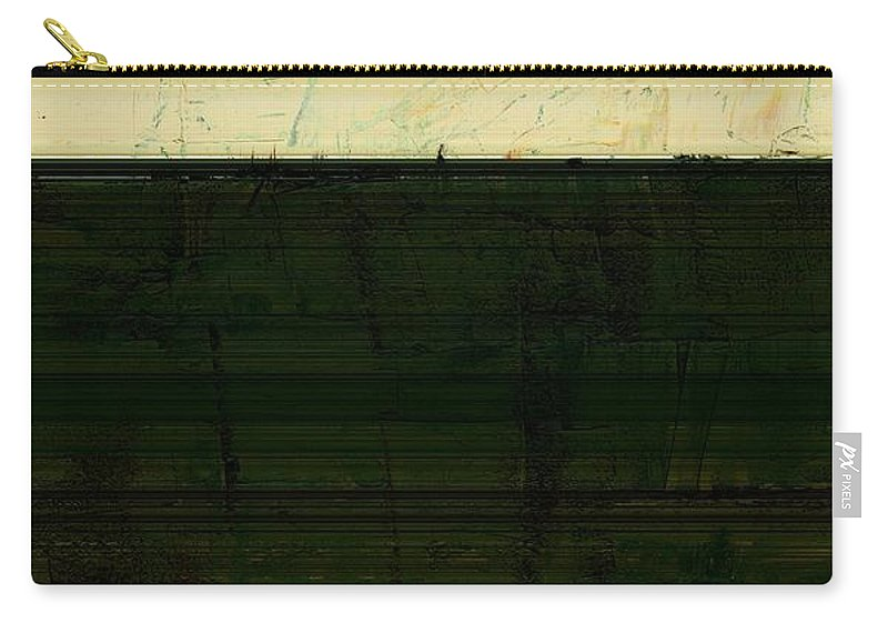 Striped Carry-all Pouch featuring the painting Abstract Landscape - The Highway Series Ll by Michelle Calkins