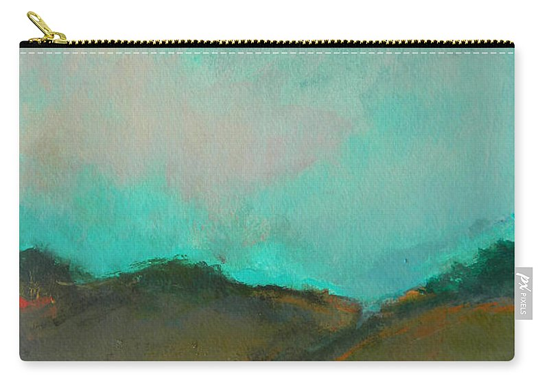 Landscape Carry-all Pouch featuring the photograph Abstract Landscape - Turquoise Sky by Kathleen Grace