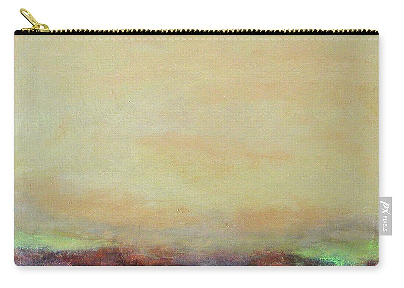 Landscape Carry-all Pouch featuring the Abstract Landscape - Rose Hills by Kathleen Grace