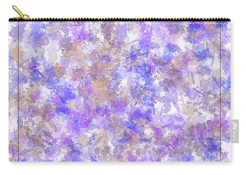 Abstract Carry-all Pouch featuring the digital art Abstract Purple Splatters by Debbie Portwood