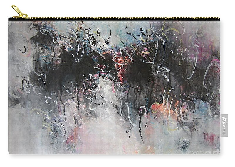 Abstract Painting Seascape Carry-all Pouch featuring the painting Abstract Seascape00100 by Seon-Jeong Kim
