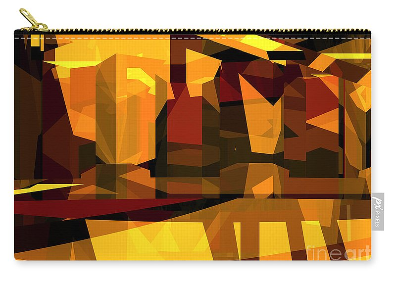 Abstract Carry-all Pouch featuring the digital art Abstract Sin 27 by Russell Kightley